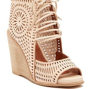 Jeffrey Campbell Rayos Perforated Wedge Sandal